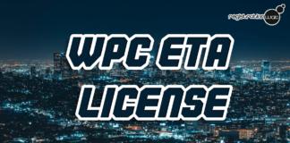 WPC ETA License